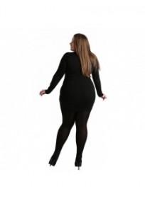 """collant """"les basiques"""" grande taille - collant opaque 90 deniers Pamela Mann maxi (porté dos)"""