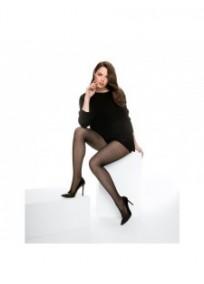 """collant fantaisie grande taille - collant noir """"Limoges"""" Cette (porté)"""