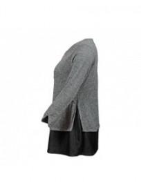 robe grande taille - robe courte 2 en 1 zippée 2W (côté)
