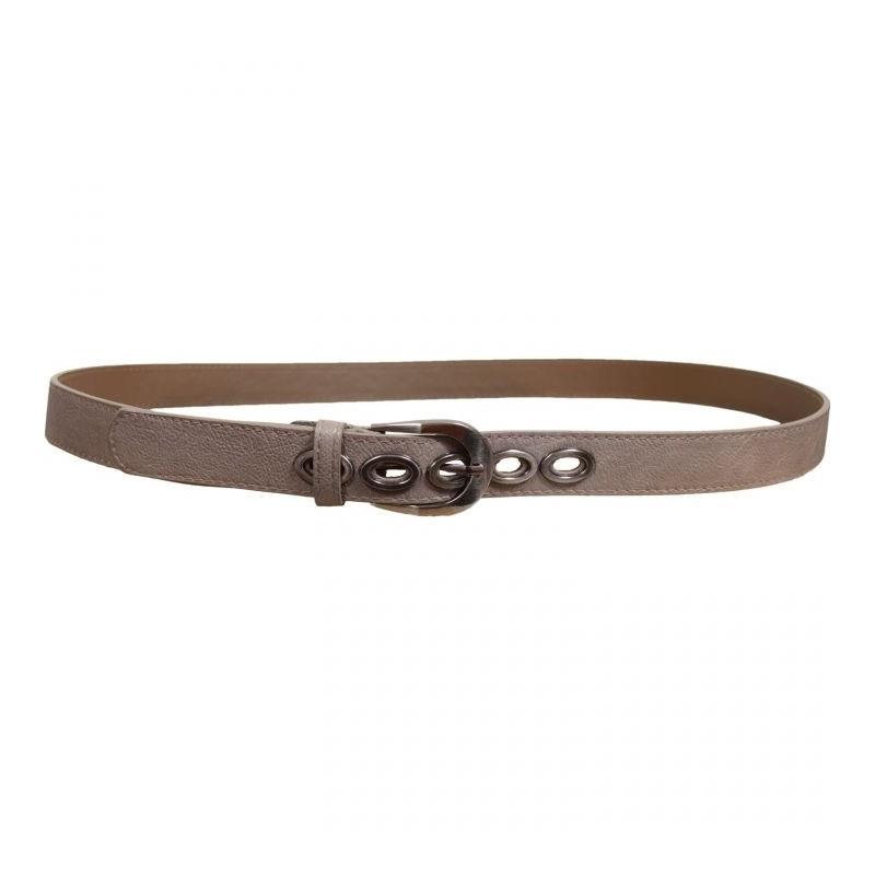 """ceinture grande taille - ceinture """"bulles"""" avec anneaux métalliques coloris taupe"""