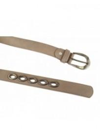 """ceinture grande taille - ceinture """"bulles"""" avec anneaux métalliques coloris taupe (détail)"""