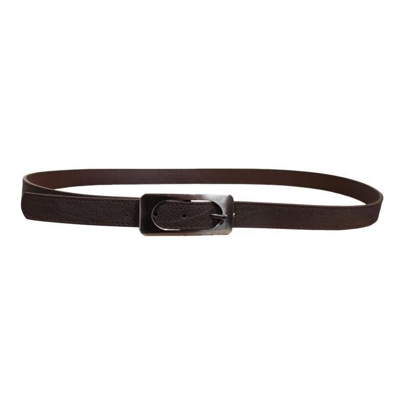 ceinture grande taille - ceinture avec boucle rectangulaire coloris chocolat