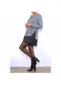 robe grande taille - robe courte 2 en 1 zippée 2W (portée côté)