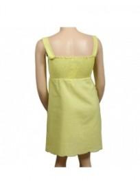 robe grande taille - robe smockée avec broderies (dos)