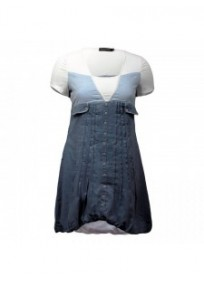 robe tunique 2 en 1 bleu jeans L33 (face)