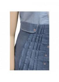 robe tunique 2 en 1 bleu jeans L33 (détail)