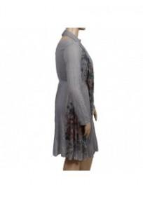 robe & foulard assorti Claude Gérard grande taille (côté)
