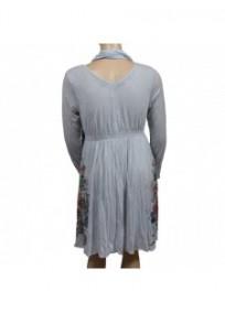 robe & foulard assorti Claude Gérard grande taille (dos)