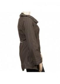 manteau kaki doublé polaire L33 grande taille (côté)