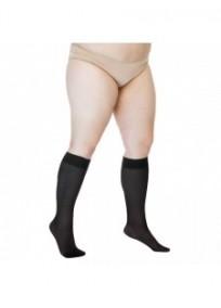 mi-bas grande taille - pack 2 chaussettes hautes noires Sjesta Lida (1pli)