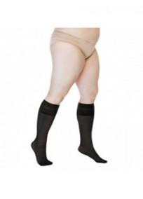 mi-bas grande taille - pack 2 chaussettes hautes noires Sjesta Lida (sans pli)
