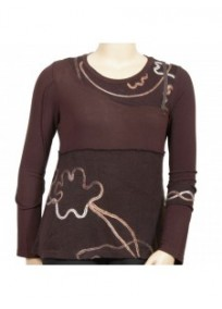 "pull choco ""arabesque"" grande taille beauté ronde (face)"