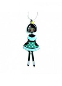 """collier fantaisie grande taille - collier pepette Dora coloris bleu """"les pepettes"""" Lol bijoux"""