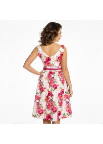 """robe grande taille - robe vintage """"Delta"""" Lindy Bop imprimé """"Bouquet floral"""" (dos porté)"""