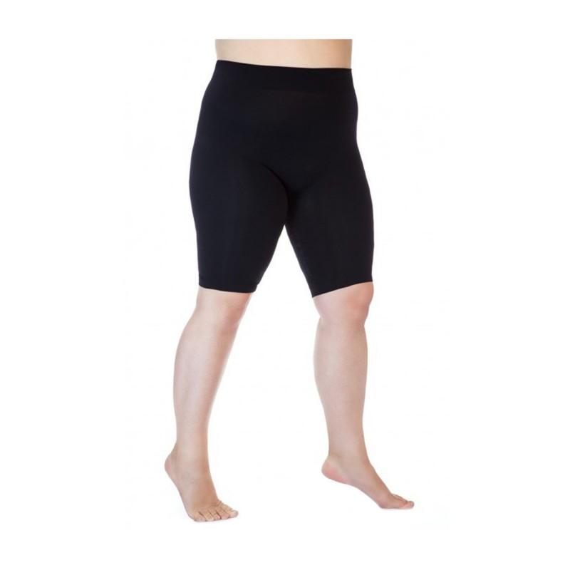 collant sans pied grande taille - legging Lida sans couture longueur genou (face)