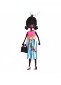 """collier fantaisie grande taille - collier pepette Aline coloris bleu """"les pepettes"""" Lol bijoux"""