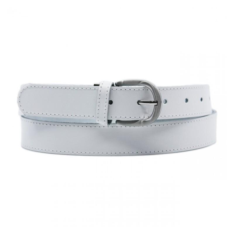 ceinture grande taille - ceinture Yves blanche