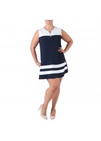 robe grande taille - robe trapèze sans manches avec étoiles 2W (face)