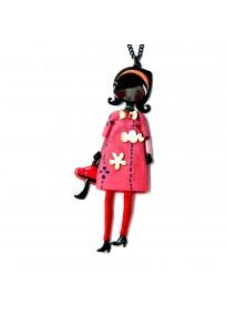Collier fantaisie grande taille - sautoir Candice rouge les pepettes lol bijoux