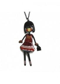 "collier fantaisie grande taille - collier pepette Lolita coloris rouge ""les pepettes"" Lol bijoux"