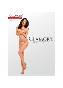 "Collant ouvert grande taille - Collant fin ""Plaisir ouvert"" 20D Glamory emballage"