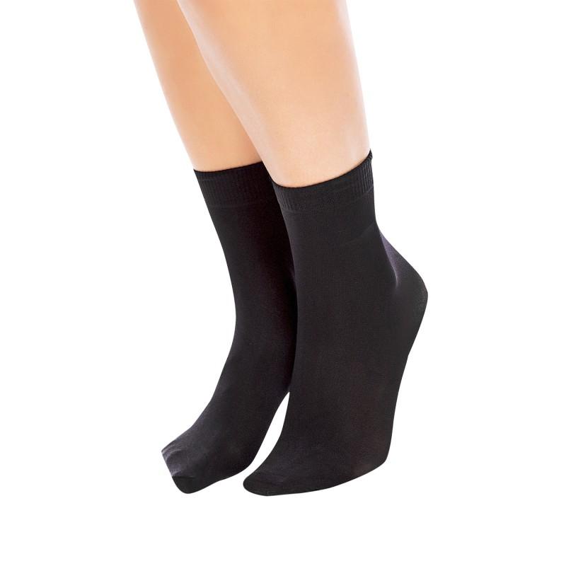 Chaussette socquette soft micro 40 semi opaque Glamory coloris noir