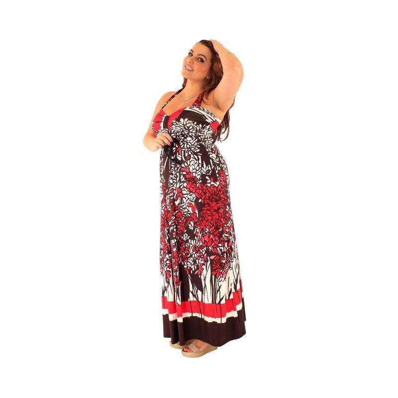 robe grande taille - maxidress ashanti lili london (face portée)