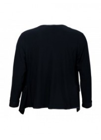 Veste grande taille - gilet blazer noir Maelle (dos)