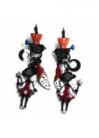 boucles d'oreilles fantaisie - dormeuses fée Avette Lol bijoux coloris prune 15ECN72EA