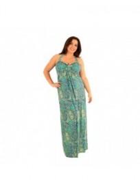 robe grande taille - maxi dress très longue ashanti lili london imprimée paisley cachemire (portée face)