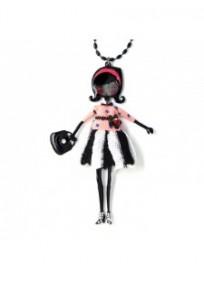 collier fantaisie grande taille - collier pepette Sophie coloris rose lol bijoux